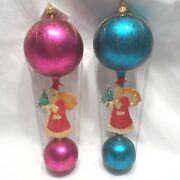 Radko 1997 Christmas Cloud Hoppers Vintage St.nick Wired Balloon 2-pc Set New