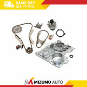 Timing Chain Kit Timing Cover Water Pump Fit 02-07 Gmc Chevrolet Isuzu 3.5 4.2