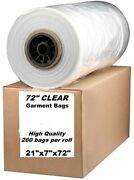 Dry Cleaner Roll Clear Garment Bags 72 Perforated For Long Dresses And Garments