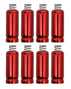 Spark Plug Wire Boot Heat Shield Protectors Set Of 8 For Ls And Lt Engines Red