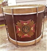 Rare Slingerland Corporal 1936 Vfw Used Marching Parade Snare Drum Super Cond