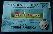 Plasticville Bachmann Su-4 Shopping Unit Kit W/ Box O Scale With Police Station