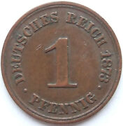 Top 1 Pfennig 1873 A In Almost Extremely Fine