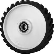 12x2 Serrated Rubber Contact Wheel For Belt Sander Grinder W/ 6206 Bearing