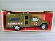 Vintage Nylint Chevy Army Ambulance With Stretcher And Medic Truck Nib 4134