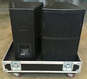 Pair Of Electro-voice Xi-1152/64 Speakers W/ Road Case From Ev X-array Series