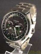 Citizen Satellite Wave H950-s094704 Stainless Steel Eco-drive Solar Mens Watch