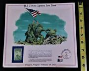 Vintage Iwo Jima Poster And Commemorative Stamp 2/19/45-2/19/84 39th Anniversary