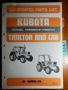 Kubota M8950-s M8970 Tractor And Cab Illustrated Parts List Manual 97898-21270 And03989