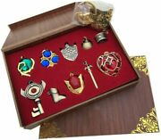 The Legend Of Zelda Accessory Set Zelda Keychain Necklace 10 Pieces As A Gift