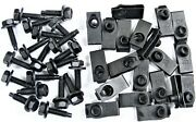 Ford Body Bolts And U-nut Clips- 1/4-20 X 1 Long- 7/16 Hex- 40 Pcs 20ea- 408f