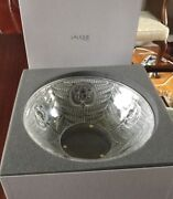 🇫🇷 New Lalique France Psyche Semi Frosted Crystal Bowl - Original Box Signed