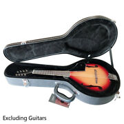 A-style Microgroove Durable Hardshell Mandolin Leather Wood Protect Case Black