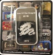 Year Of The Dragon 1 Troy 999 Silver Minted Bullion Art Bar - Suisse Gold Brand