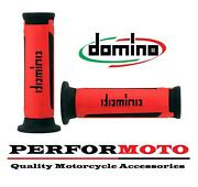Domino A350 Grips Red / Black To Fit Yamaha Rd200 Dx