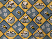 Snoopy Woodstock Star Moon Peanuts 100 Cotton Fabric Fq Rare Oop Vintage New