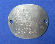 Wwii 1945 Navy Naval Dog Tag T-3-45