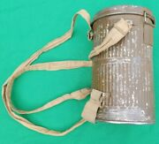 Identified Officer Ww1french Ars Gas Mask W/aluminum Can And Straps / German Use