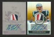 2010 Bowman Sterling Rob Gronkowski Auto Patch Printing Plate 1/1 Refractor 5/25