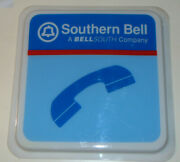 Vintage Southern Bell/bellsouth Public Payphone Sign Plastic 22x22 One-sided