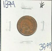1894 Indian Head Cent Xf Nice Coin