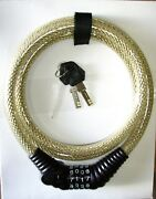 9/16 5 Ft. Long Flexweave Locking Cable Resetable Combination Or Key Opening