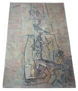 Pablo Picasso Woman With Guitar 1910 Danish Wool Mcm Rug By Ege 5and039 X 7and039