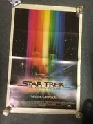 Star Trek The Motion Picture Vintage 1979 Movie Poster 27 X 41 790177 Used