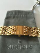 Michele Milou Yellow Gold Plt 18mm Watch Bracelet - Discontinued Fits Milou Only