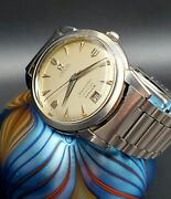 Omega Seamaster 1950 Turler Calendar With Omega Band Automatic Bumper Watch