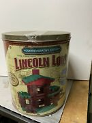 Lincoln Logs Commemorative Edition Collectable Classic Tin Wood Building Toy