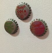 Vintage Old Collectible Barqand039s Soda Magnetic Bottle Caps Set Refrigerator Magnet