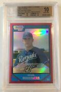 2007 Bowman Chrome Mike Moustakas Red Refractor /5 Bgs 10 Rookie Card Michael