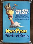 Vintage Original Monty Python And The Holy Grail Poster 1975 30 X 20 Inches Uk