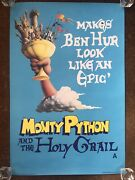 Vintage Original Monty Python And The Holy Grail Poster 1975 30 X 20 Inches Epic