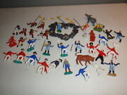 Lot Of Plastic Soldiers Britains Marx Hk And Others Civil War Revolutionary More