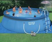 Intex Inflatable Above Ground Swimming Pool With Ladder 18andrsquox48andrsquoandrsquo Plus Filter