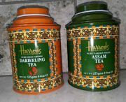 Harrod's Tea Tins From England - Empty Tea Tins Lot Of 2 Excellent Condition