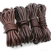 Diy Coffee Round Cow Real Leather Cord Lace Rope Weave String Hand Knitted