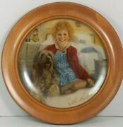 Annie And Sandy Plate 1st Issue Edwin Knowles Wooden Frame Signed By Artist