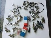 Vintage Ignition Repair Parts Variety Lot Nos Points Condensers Distributor Ties
