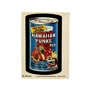 Vintage Wacky Packages 1979 Topps Chewing Gum Sticker Hawaiian Punks 28 Of 66