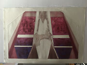 Zelozny Singed Numbered S/n Pink Abstract Etching Print Never Framed 40x28