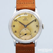 Omega Vintage Cal.30t2 Stainless Steel Manual Winding Mens Watch Auth Works