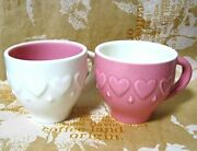 Starbucks Demitasse Cup Pair Pink And White Heart Set From Japan