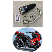 Pipe Exhaust Full System Lxil M9 Black Edition Motorcycle Part Fits Honda Adv150