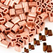 Crimp Sleeve Ferrules Copper Cable Wire Swage Double Barr Flag Pole Rope