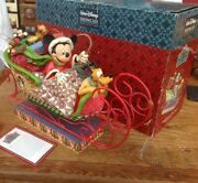 Rare Disney Tradition 'large Xmas Sleigh-laughing All The Way' 14 Long Boxed