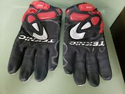 Teknic Chicane Black And Red Short Cuff Motorcycle Gloves Medium.
