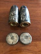 Camp Grant Rockford Silver Co Vintage Salt And Pepper Shakers With Natural Patina